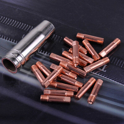 21pc MB-15AK MIG/MAG Welding Torch Contact Tips 0.9 x 24mm Gas Nozzle Shroud Kit