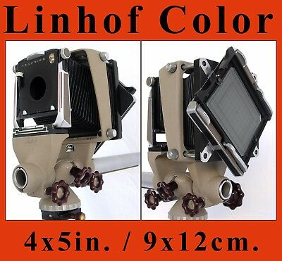 Linhof 4x5in. / 9x12cm. Monorail Bellows Camera with Rotating Back and Lensboard