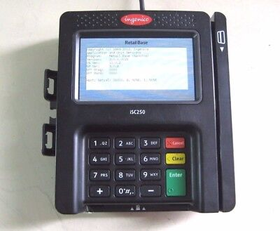INGENICO iSC250 TOUCH SCREEN POS CC PAYMENT TERMINAL WITH INTERFACE CABLE #B4
