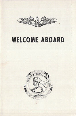 USS Oak Ridge ARDM 1 Welcome Aboard program 1979