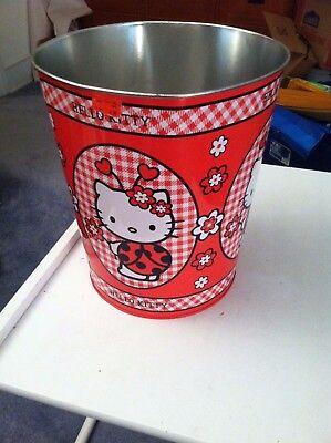 Red Sanrio Hello Kitty trash can