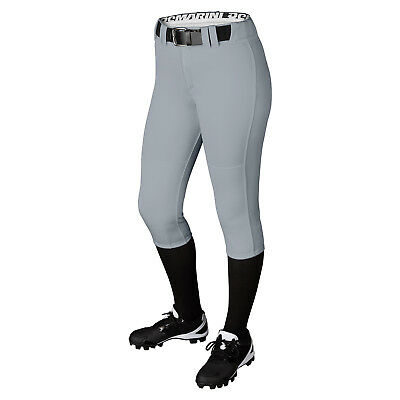 DeMarini Girl's Belted Fastpitch Softball Pant - Grey - Small