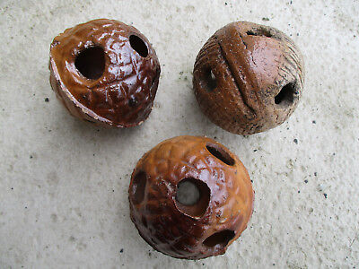 3  weird stoneware balls i dug up from an old rubbish dump