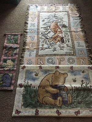 Classic Pooh Hanging Rug Throw Perfect Winnie The Pooh