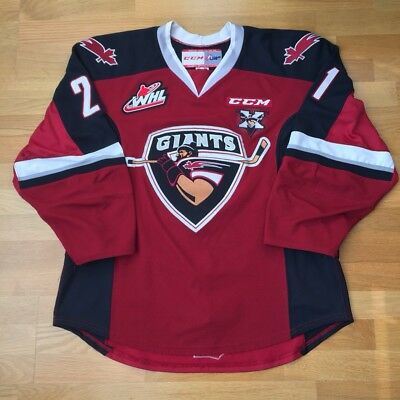 2015-16 Vancouver Giants Brennan Menell Game Worn Jersey 15th Anniversary Patch