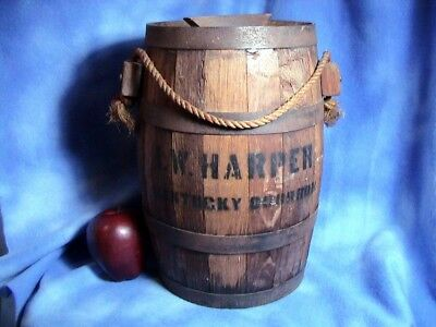 Rare I. W. Harper Wood Cask Water Bucket, Authentic Bourbon Cask 3 Gal (158)