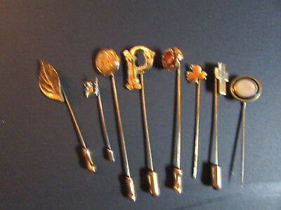 Lot of 8 Vintage STICK or Hat PINS Mixed Styles