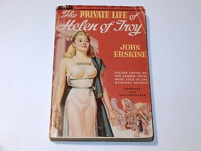 Private Life Of Helen Of Troy John Erskine Paperback 1948 Headlight Cover