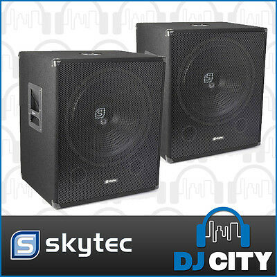 Skytec PK-SWA18 18 Inch Powered Subwoofer Pair 2000W