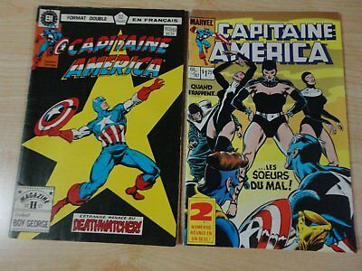 2 capitaine america 1984 comic (french, francais)  double 152/153, 156/157,