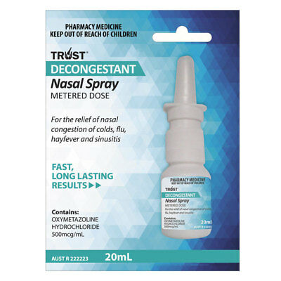 ツ Trust Decongestant Nasal Spray 20Ml Nasal Congestion Colds Flu Hayfever Relief