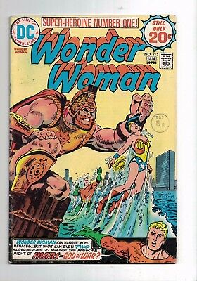 Dc Comic The new Wonder Woman no 215 Jan 1975 20c USA