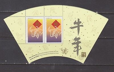 Canada 1997 Lunar New Year SS with Hong Kong Inscription Mint NH