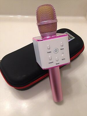 Karaoke Mike Wireless Microphone & HiFi Speaker Pink