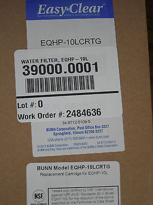 39000.0001, Bunn Water Filter, Easy Clear Filter, Eqhp-10L