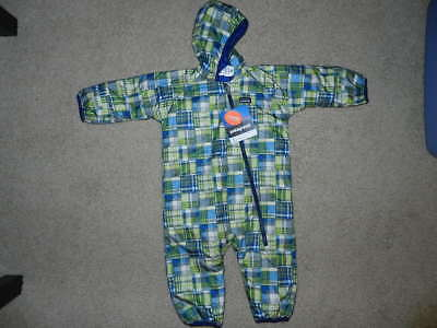 NWT baby PATAGONIA boys PUFF-BALL bunting REVERSIBLE Snowsuit 12 mo