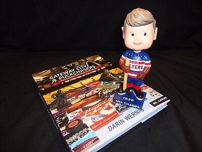 1936 St. Louis Flyers AHA Champs Bobblehead and Book (pre St. Louis Blues)
