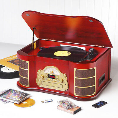 REFURBISHED Antique HiFi 8 in 1 with CD Recorder