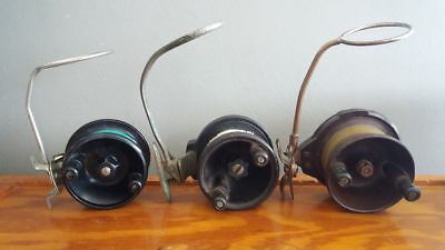 3 Vintage Steelite fishing reels