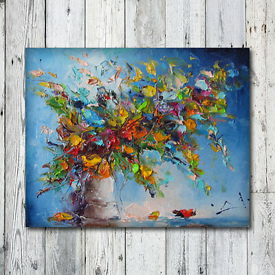 Modern Abstract Handwork Oil Painting Fashion Canvas Home Decor Art Wall Flower