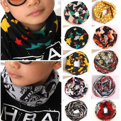 Kids Baby Girls Boys Ring Scarf Bib Scarves Printed Shawl Neckerchief Shawl A9S3