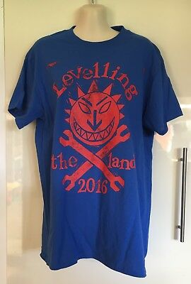 Unworn The levellers Levelling The land Tour 2016 Tshirt tee Size M