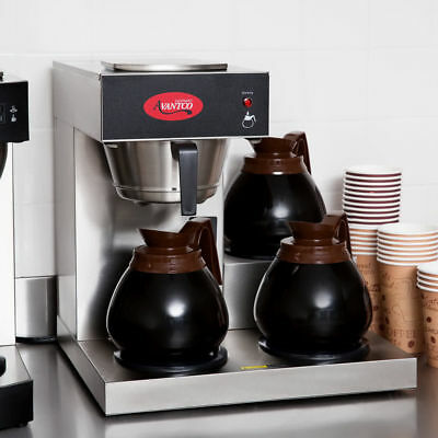 Industrial Commercial Coffee Maker Machine 3 Pot Warmer Pourover 12 Cup Brewer