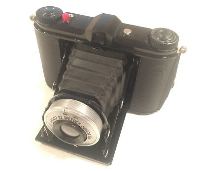 Vintage Ansco B2 Speedex Junior Folding Camera with Case *AS-IS*