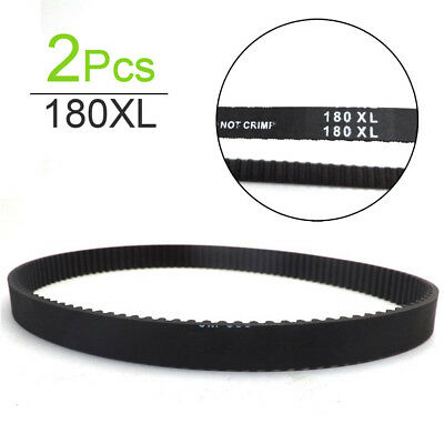 "2 Pieces 180XL037 Timing Belt 1/5"" Pitch, 3/8"" Width, 90 Teeth, 18"" Length"