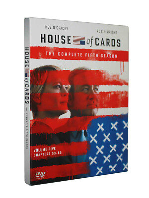 House of Cards : The Complete Five Season 5 (DVD, 2017, 4-Disc Set)