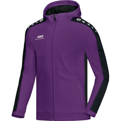 Jako Kapuzenjacke Striker Kinder lila/schwarz Fitness Jogging Trainingsjacke