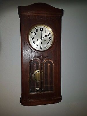 0093-Antique German Junghans  Westminster chime wall clock