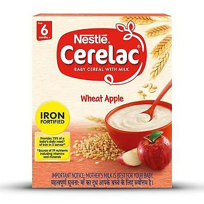 Nestle Cerelac Fortified Baby Cereal with Milk, Wheat Apple – From 6 Months +