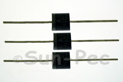 MIC 10A10 Silicon Rectifier Diodes R-6 1000V 10A 10-30pcs for Solar Panel Radio