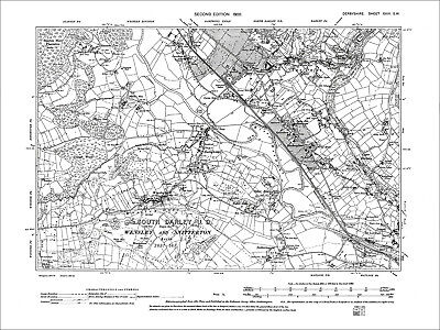 Darley (S), Two Dales, Matlock Bank (W), Old Map Derbyshire 1900: 29-SW