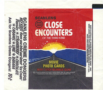 Scanlens - Close Encounters - Card Wrapper - 1978 - NO TEARS / RIPS