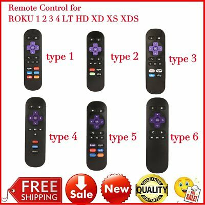 New Technology Replacement Remote Control For ROKU TV 1/ 2/ 3/ 4 LT HD XD XS GT