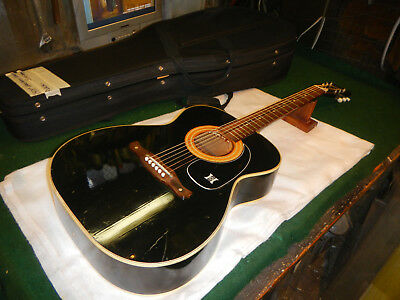 Vintage Harmony Sovereign Super Rare Black Model Has Play wear and checking