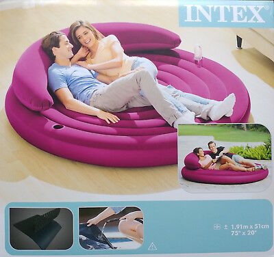 Intex 68881NP Ultra Lounge Daybed Sofo Couch Luftbett Outdoor Camping , (N)