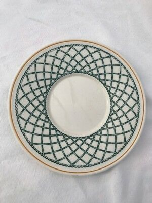 5 Villeroy & Boch Basket Saucers Germany Great Condition