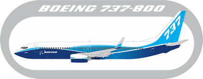 Boeing 737-800 aircraft profile sticker