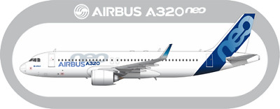 Airbus A320 NEO aircraft profile sticker