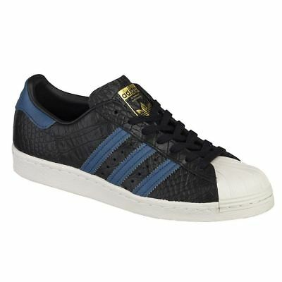 0c2fa94aaa3286 ADIDAS ULTRASTAR 80S Mens Trainers Lace Up Shoes Black White Leather ...