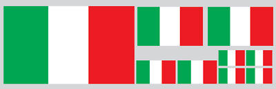 Kit 9 Adesivi Decal Stickers Bandiera Italia Italy Flag Casco Auto Moto Vinile
