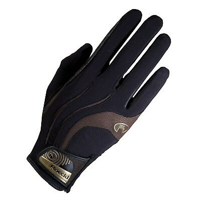 (8, black-mocca) - Roeckl - riding gloves MALIA. Free Delivery