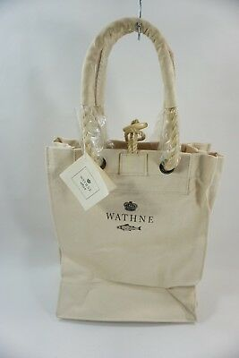 Wathne Canvas & Leather Tote Bag, NWTs, Market, Shopping, Boat, Beach Summer Bag