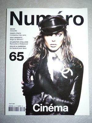 Magazine mode fashion NUMERO french #65 aout 2005 David Lynch - Cinéma