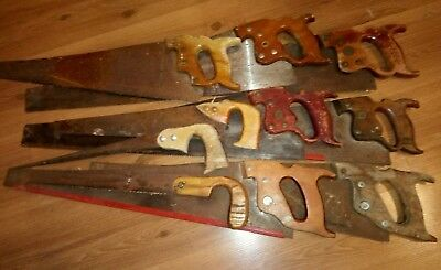 Disston Canada Vintage Antique Saw Lot of 10