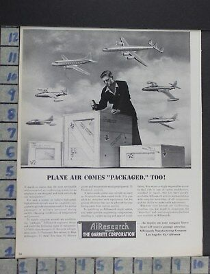 1950 Aviation Plane Mechanic Engine Airesearch Air Conditioner Flight Ad Cx17
