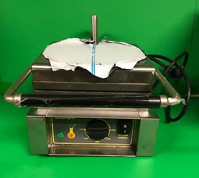 """Equipex Sodir 12"""" Commercial Single Cast Iron Waffle Maker Model GES10 Brussels"""